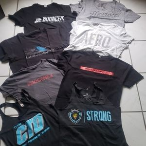 Unique bundle of Crossfit shirts (6) tanktops (2)